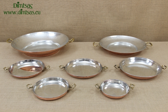 Copper Round Pans with Handles