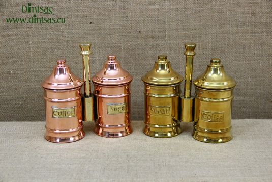 Sugar & Coffee Copper Canisters