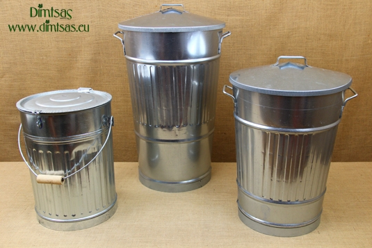 Galvanized Sheet Metal Trash Cans
