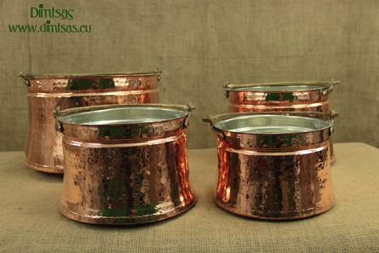 Copper Cauldrons with One Handle
