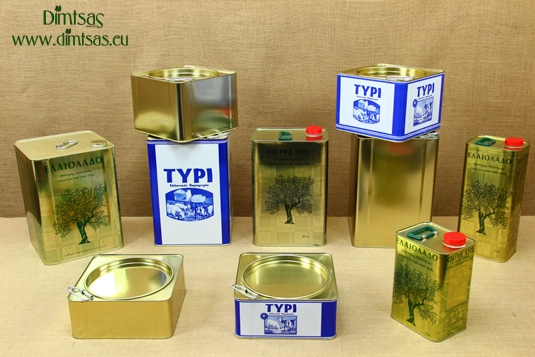 Tin Containers for Olive Oil & Cheese