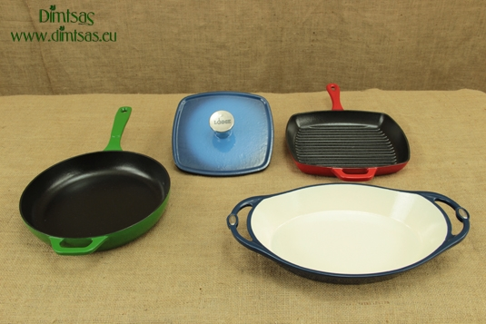 Lodge Enameled Cast Iron Skillets, Grill Pans and Presses