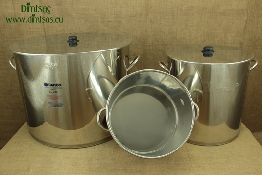 Stock Pots of Stainless Steel 1.2 mm with Bottom 1.5 mm