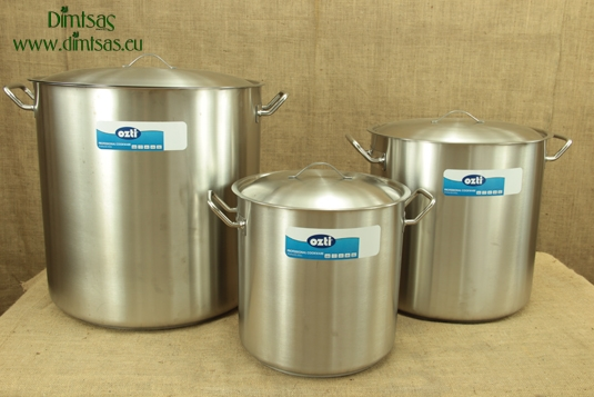 Stock Pots of Stainless Steel One-Piece 1.4 mm with Sandwich Bottom