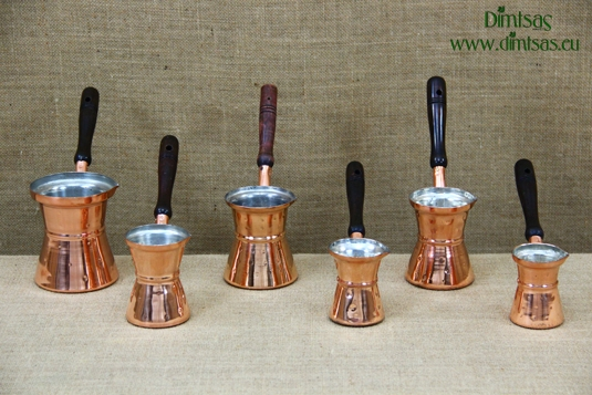 Copper Hammered Coffee Pots with Wooden Handle