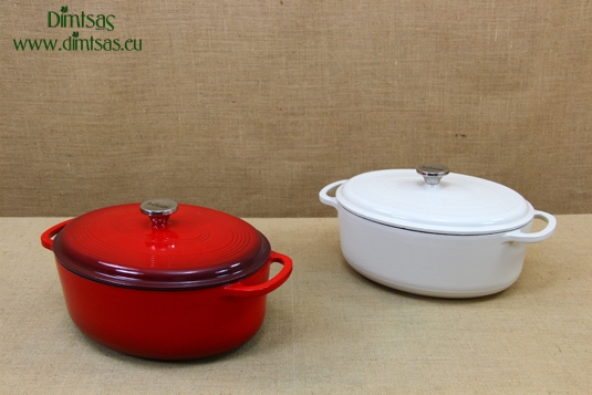 Enameled Cast Iron Dutch Ovens - Casseroles Oval 6.6 lt