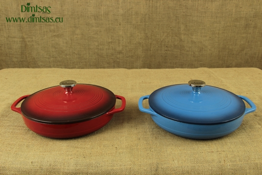 Enameled Cast Iron Dutch Ovens - Casseroles Shallow Pots 2.8 lit