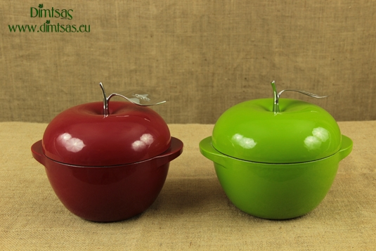 Enameled Cast Iron Dutch Ovens - Casseroles Apple 2.8 lit