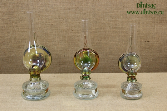 Oil Lamps with metallic Reflector