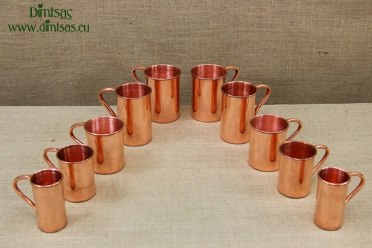 Copper Glasses Straight with Handle