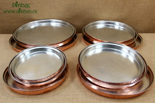 Copper Round Shallow Baking Pans