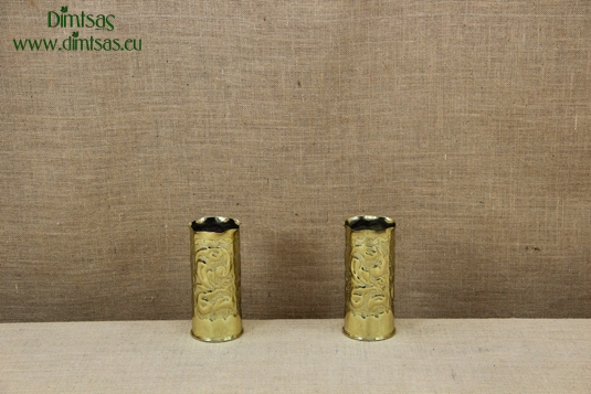 Trench Art Brass Shell Casings Engraved Size No1