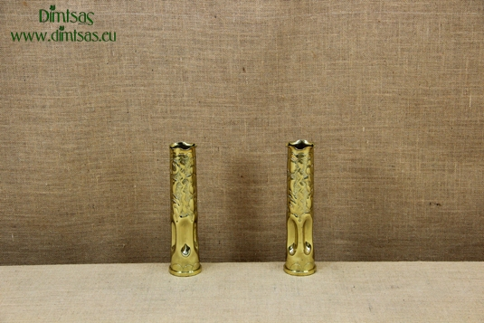 Trench Art Brass Shell Casings Engraved Size No2