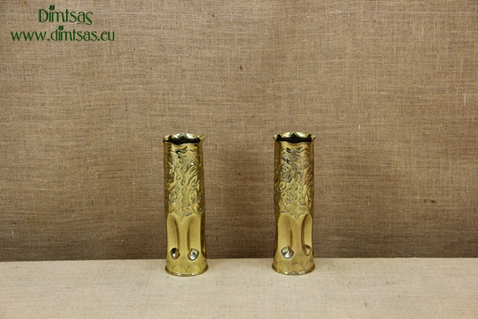 Trench Art Brass Shell Casings Engraved Size No3