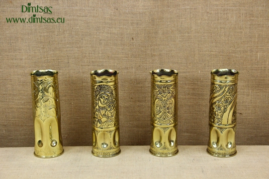 Trench Art Brass Shell Casings Engraved Size No4