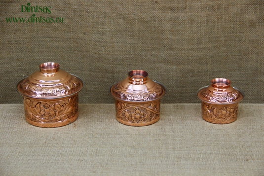 Copper Mini Pots Engraved