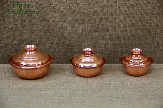 Copper Mini Pots Curved
