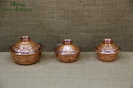 Copper Mini Pots Curved Engraved