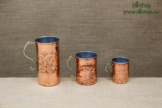 Copper Wine Jugs Engraved
