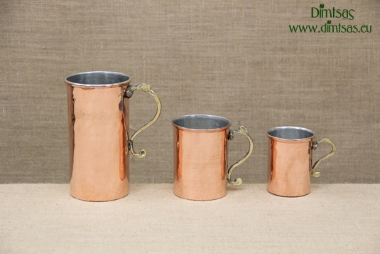 Copper Wine Jugs Hammered