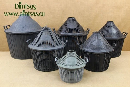 Plastic Baskets for Demijohns with Narrow Neck