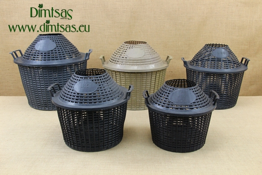 Plastic Basket for Demijohns with Wide Neck