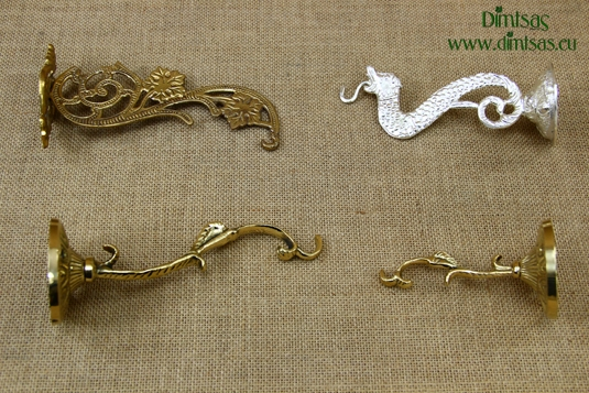Bronze Wall Hooks for Hanging Vigil Lamps