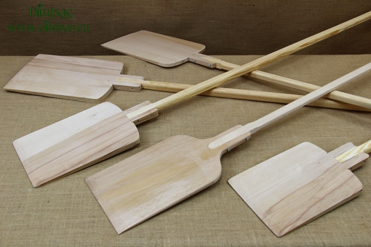 Wooden Oven Shovels - Pizza Shovels