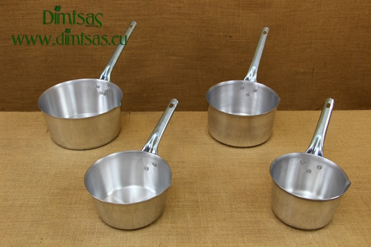 Sauce Pans Aluminium with Long Handle Straight
