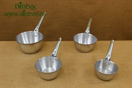 Sauce Pans Aluminium with Long Handle Curved