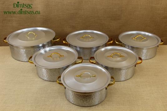 Aluminium Round Baking Pans Professional Hammered