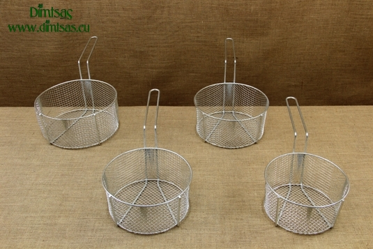 Frying Baskets Tinned with Long Handle for Professional Fryer Pots