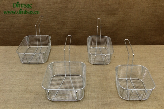 Frying Baskets Tinned Rectangular for Professional Fryer Pots