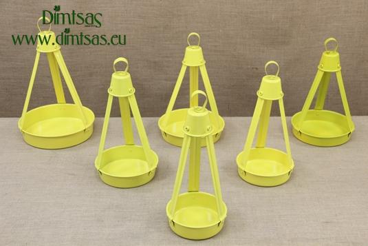 Aluminium Traditional Greek Coffee Trays Yellow