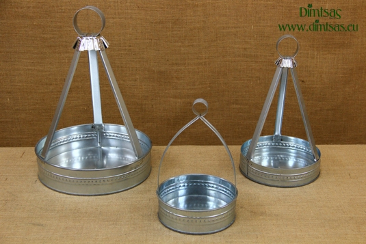 Traditional Greek Coffee Trays Galvanized