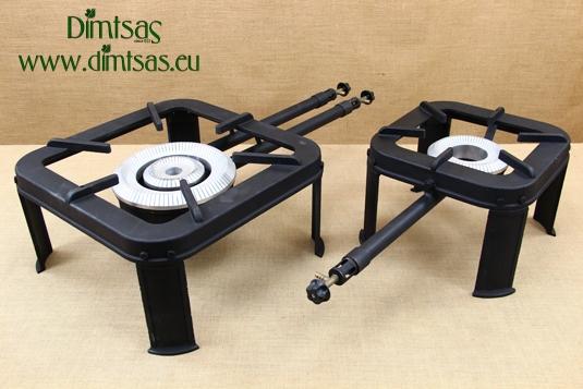 High Pressure Cast Iron Gas Boiling Rings Four-Legged