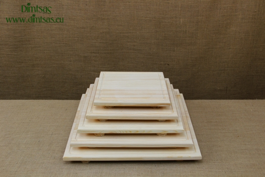 Square Wooden Cutting Surfaces - Wooden Serving Plates with Groove