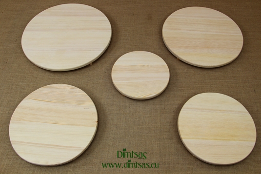 Round Wooden Cutting Surfaces - Wooden Serving Plates