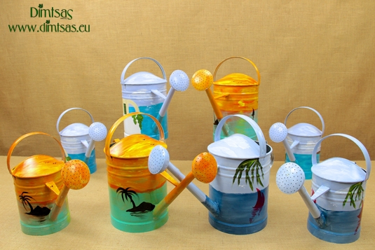 Painted Watering Cans