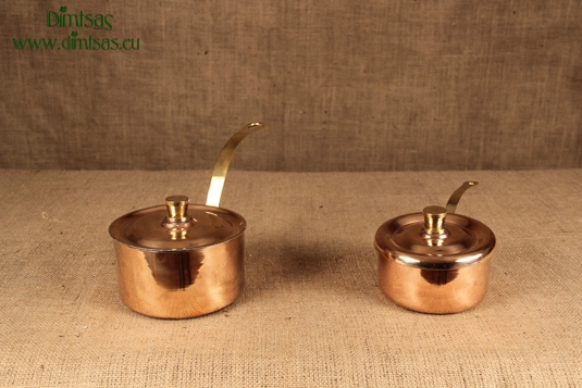 Copper Saucepans with Lid
