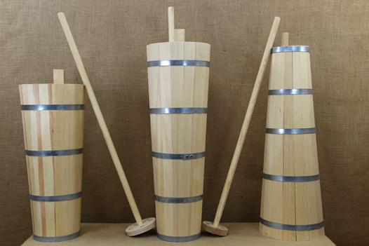 Παραδοσιακά Ξύλινα Σκεύη για Βούτυρο