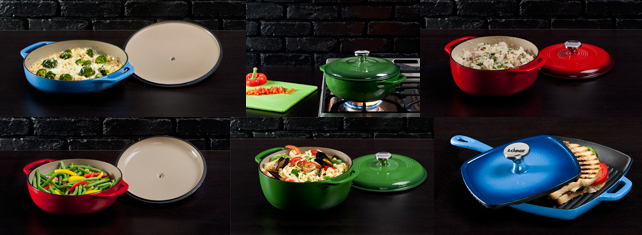 Enameled Cast Iron Cookware Lodge