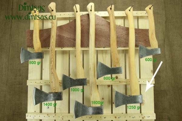 Τσεκούρι για Σχίσιμο & Κοπή Ξύλων 1.25 Κιλών με Ξύλινο Στυλιάρι