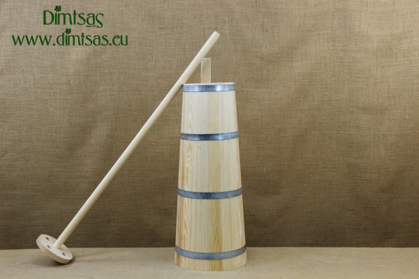 Traditional Wooden Butter Churn with Narrow Spout No2