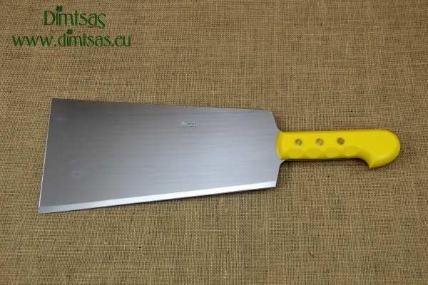 Cleaver Stainless Steel Double 32 cm with Black Handle