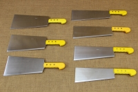 Cleaver Stainless Steel - Misotsatiro 27 cm with Yellow Handle Twelfth Depiction