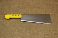Cleaver Stainless Steel - Misotsatiro 27 cm with Yellow Handle First Depiction