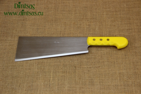 Cleaver Stainless Steel - Misotsatiro 27 cm with Yellow Handle