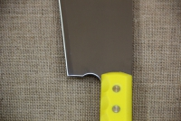 Cleaver Stainless Steel - Misotsatiro 27 cm with Yellow Handle Eighth Depiction