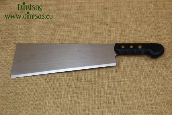 Cleaver Stainless Steel - Misotsatiro 34 cm with Black Handle